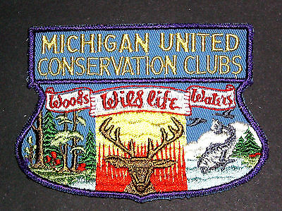 Vintage Michigan United Conservation Club Patch - Woods - Wildlife - Water