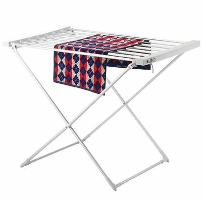 Heated Airer Folding Small Dryer Rack Indoor Laundry Clothes Drying Horse Rack