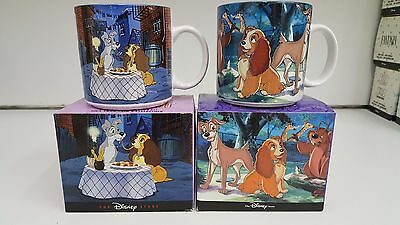 """Set of 2 VIntage Disney Collectible Mug 12 oz """"Lady and The Tramp"""""""