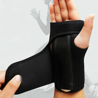 New Black Wrist Brace Splint Sprain Carpal Tunnel Syndrome Hand Support Recovery