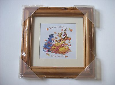 "DISNEY Picture Winnie the Pooh  ""The Best Leaf Pile in the Wood"" BRAND NEW"