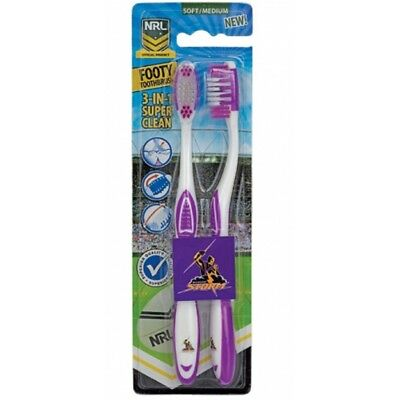 Melbourne Storm Official NRL Toothbrush Twin Pack