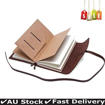 Handmade Genuine Leather Cover Blank Bound Diary Notebook Journal Sketchbook
