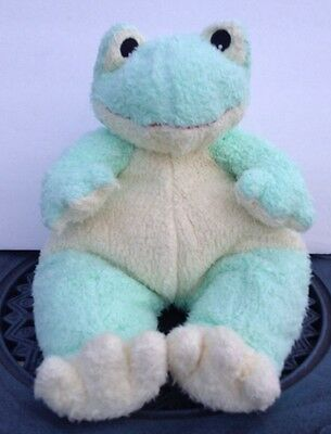 Frog Ty Baby Pillow Pal Plush Rattle Pastel Green Yellow Frogbaby
