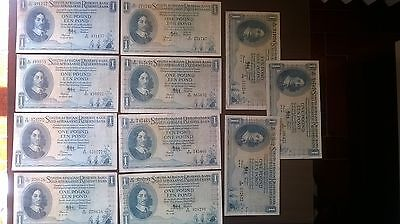 South Africa 11 Notes of One Pound, All Different Dates 1950, 1952, 1957, 1958