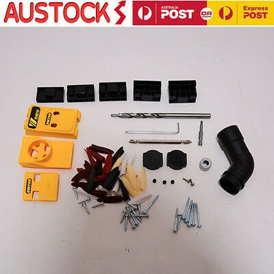 Portable Pocket Hole Drill Jig Woodworking Joinery Hand Tool Kit Drilling System