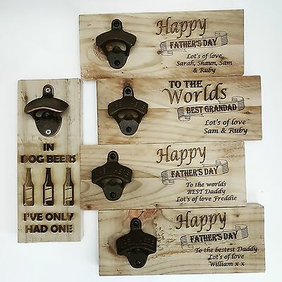 Personalised Wall mounted bottle opener Personalised Birthday Gift