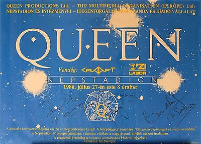 "Queen Freddie Mercury Autographs Are HUGE Signed 45"" X 32"" ""Magic"" Last Tour"