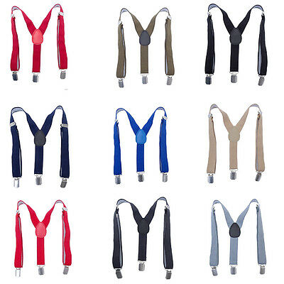 Baby Boys Kids Suspenders Braces 3 Clips Y Back Child Elastic for Wedding
