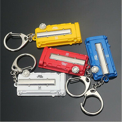 For Honda Vtec TURBO Turbine Engine Cover Key Button Car Modification Key Ring