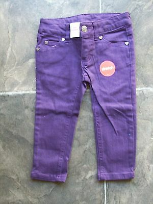 BNWT Girl's Purple Stretch Denim Jeans Size 1