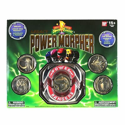 Power rangers Legacy morpher with 5 metal coins New sealed