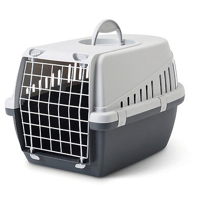 Savic - Panier de Transport Trotter Anthracite pour Chat - 49x33x30cm