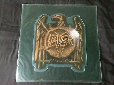 """Slayer - Seasons In The Abyss 7"""" shaped Picture disc UK 1991  VG+/EX # Thrash"""