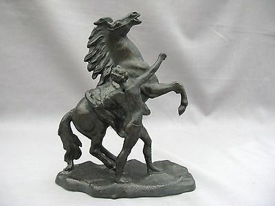 A 19th Century Spelter figure of a Winged Horse - Pegasus - and a man - af