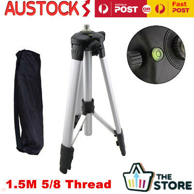 5/8 Thread Aluminum Leveling Tripod Stand Laser Level Measure Dumpy Holder 1.5M