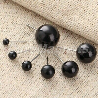 50pcs Pairs 4-14mm Black Bean Eyes For Felting Sewing Bear Toy Doll Craft Tool