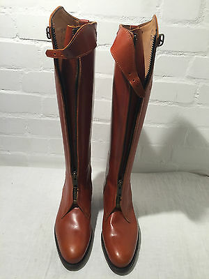 Stunning Arandu Polo Boot Size 39 In Dark Brown Tanned Leather Rrp $846.46 - Vr