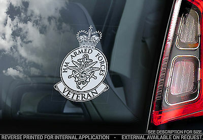 Armed Forces Veteran -Car Window Sticker- RAF Army Navy Royal Air Force Military
