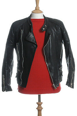 Vintage Jbw Leather Biker Cafe Racer Jacket Xs