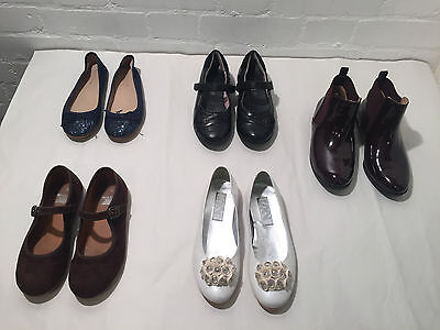 Lot Of 5 Girls Mixed Shoes + Boots - Designer Party Shoes - Size 32 - Vr