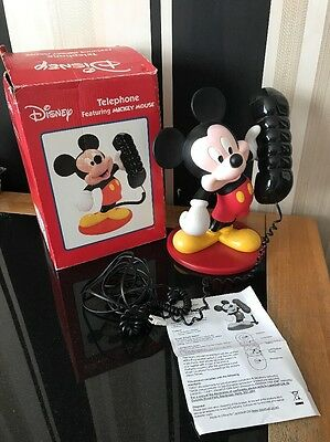 Disney Telephone Featuring Mickey Mouse Lazerbuilt Home House Phone Collectible