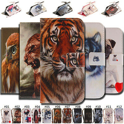 For Samsung Smartphone Pattern PU Leather Magnetic Wallet Card Belt Cover Case