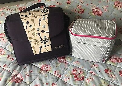 munchkin travel booster seat & Mothercare Cool Bag