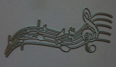 MUSIC NOTES Metal Die Cutter incl. Treble Clef 1 NEW Single Cutting Die