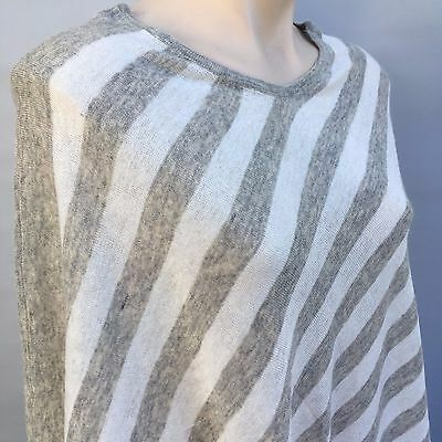 Cashmere Poncho - Women's Warm & Cosy Pure Pashmina Ponchos Plain & Striped Wrap