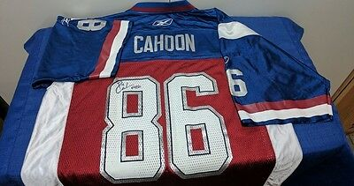CFL MONTREAL ALOUETTES BEN CAHOON AUTOGRAPHED JERSEY 3x GREY CUP CHAMPION