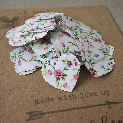 100 Vintage Style Shabby Chic Rustic Floral Wedding Table Confetti Decorations