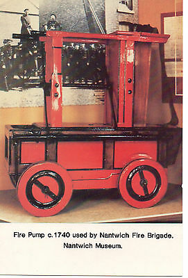 """""""Fire Pump c.1740 used by Nantwich Fire Brigade"""" Photograph at Nantwich Museum"""