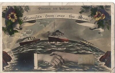 """""""Thoughts from Over the Sea,Toronto,98 Logan Ave,15/9/1912""""Rotary Photograph, PC"""