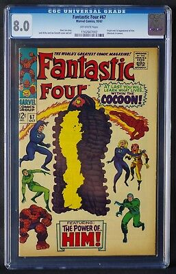 Fantastic Four 67 CGC 8.0 - 1st App Of Him (Warlock) Guardians Of the Galaxy