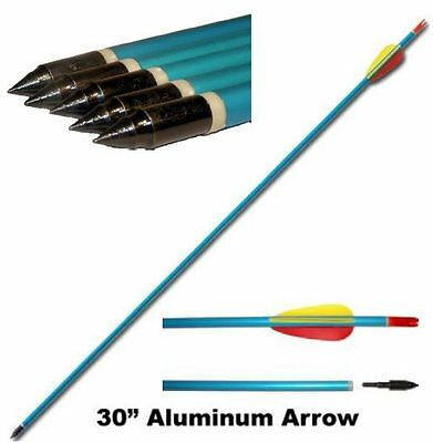 "10 X 30"" Aluminium Archery Arrows Compound and Recurve Ally Alloy Field Point"