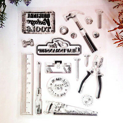 Sheet Mixed Transparent Silicone Clear Stamp Cling Seal Scrapbooking DIY
