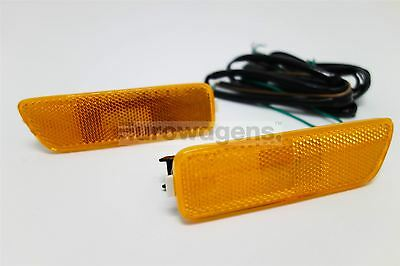 VW Golf MK4 Orange US Spec Sidemarker Running Lights Set Pair With Loom