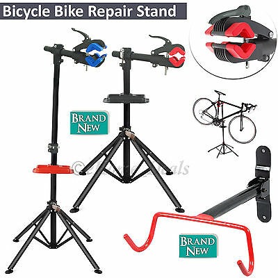 Adjustable Foldable Bicycle Repair Mechanic Maintenance Work Stand & Holder Rack