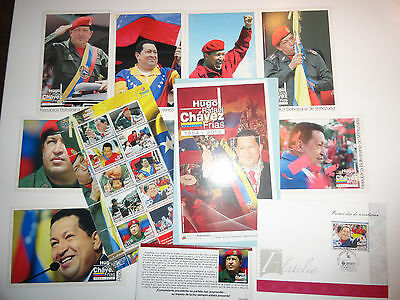 VENEZUELA LOT HUGO CHAVEZ Stamp-block-POST-FIRST DAY. LIMITED EDITION GREAT LOT