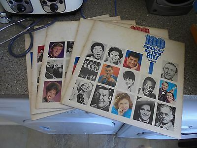 LP/ 100 FABULOUS ALLTIME HITS /POP 50s 60s 70s (SIX LP SET ...NO BOX /1970s UK E