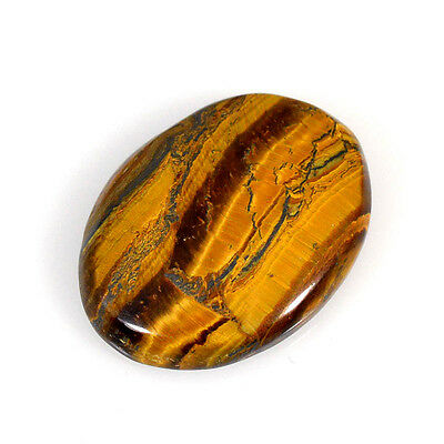 TIGER'S EYE 54.28 Cts NATURAL BROWN CABOCHON OVAL LOOSE GEMSTONE 85-40