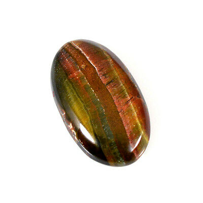 TIGER'S EYE CABOCHON 40.88 Cts NATURAL BROWN OVAL LOOSE GEMTONE 83-20