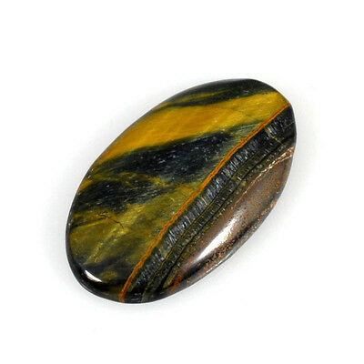 TIGER EYE'S CABOCHON 27.31 Cts NATURAL BROWN OVAL GEMSTONE 82-04