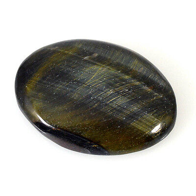 TIGER'S EYE CABOCHON 48.11 Cts NATURAL BROWN OVAL GEMSTONE 84-31