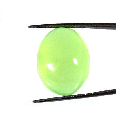 PEHNITE CABOCHON 37.25 Cts NATURAL GREEN OVAL LOOSE GEMSTONE 85-49