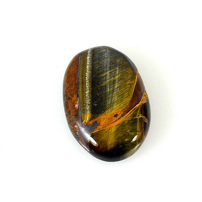 TIGER'S EYE CABOCHON 28.11 Cts NATURAL BROWN OVAL GEMSTONE 84-45