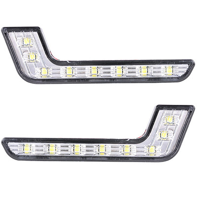 XCSOURCE 2x Car Daytime Running DRL Bright Driving Day Light Head Lamp 8 LED Wh