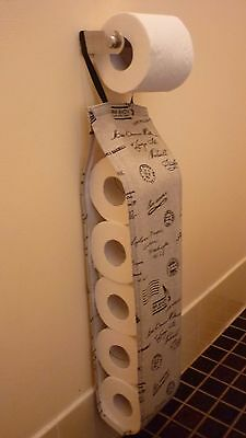 Hanging, 5 Toilet Roll Holder, Post Marks, Handmade, New