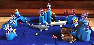 Playmobil Underwater Bundle. Sharks, Divers, Merman, Reef, Treasure, Creatures.